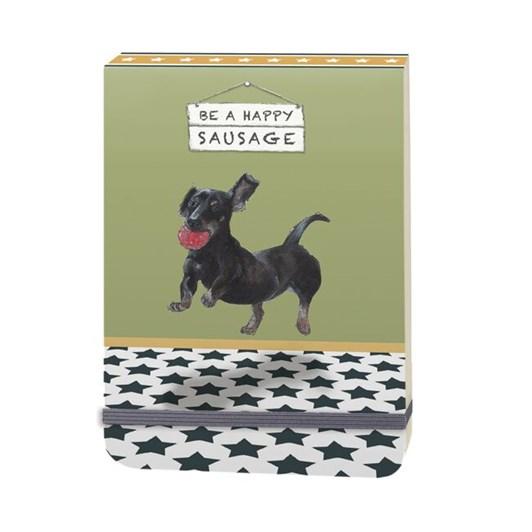 Little Dog Laughed Sausage Slim Notebook