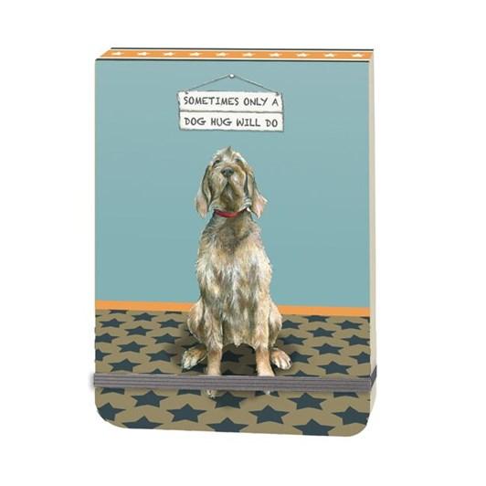 Little Dog Laughed Dog Hug Slim Notebook