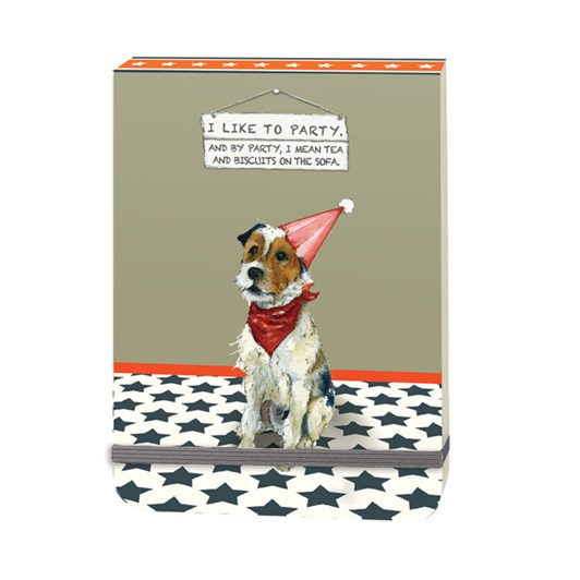 Little Dog Laughed Party Slim Notebook