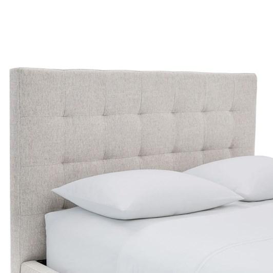 West Elm Grid Tufted Tapered Leg Low Bed Set