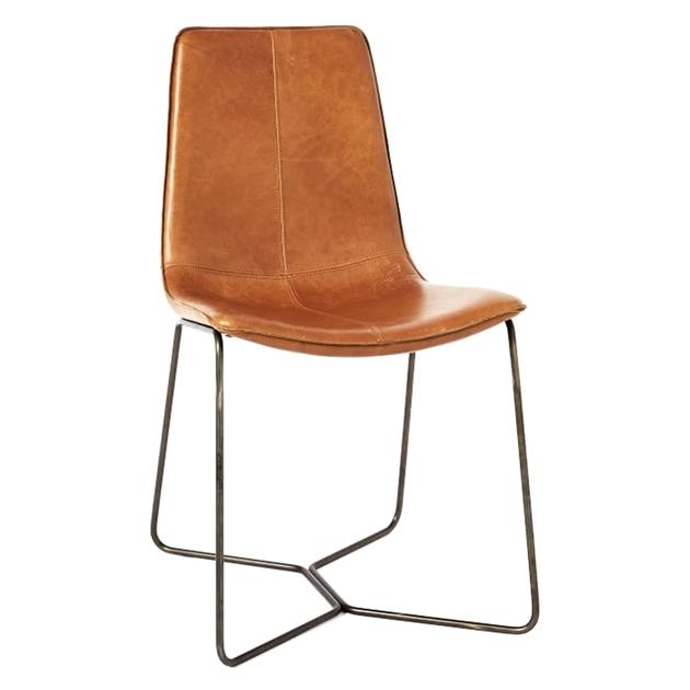West Elm Slope Dining Chair - saddle
