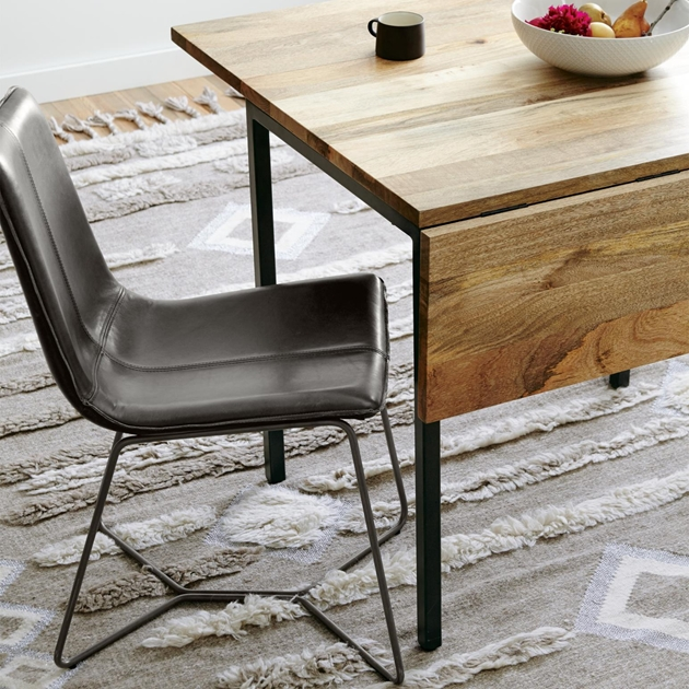 West Elm Slope Dining Chair - saddle charcoal