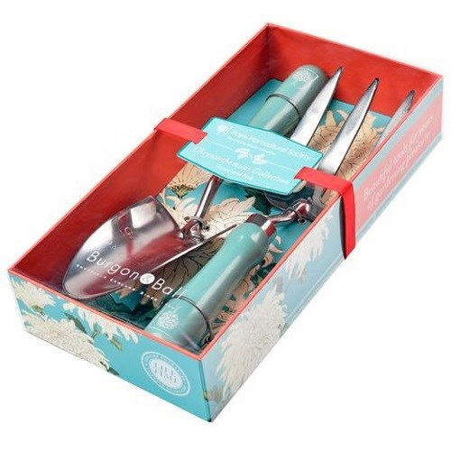 Burgon & Ball Chrysanthemum Collection Trowel And Fork Gift Boxed