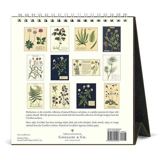 Cavallini Herbarium 2020 Desk Calendar