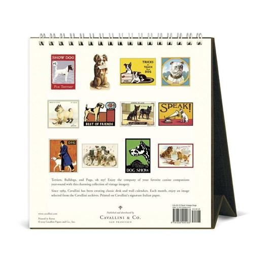 Cavallini Vintage Dogs 2020 Desk Calendar