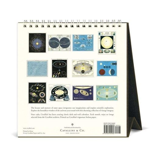 Cavallini Celestial 2020 Desk Calendar