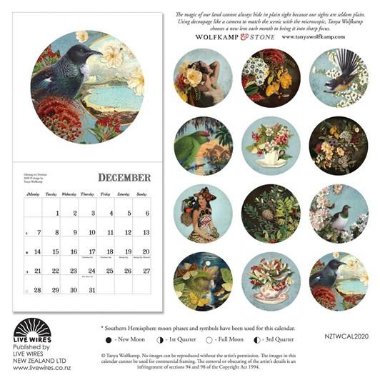 Tanya Wolfkamp Vintage New Zealand 2020 Calendar