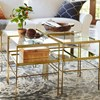 Pottery Barn Leona Cube - brass