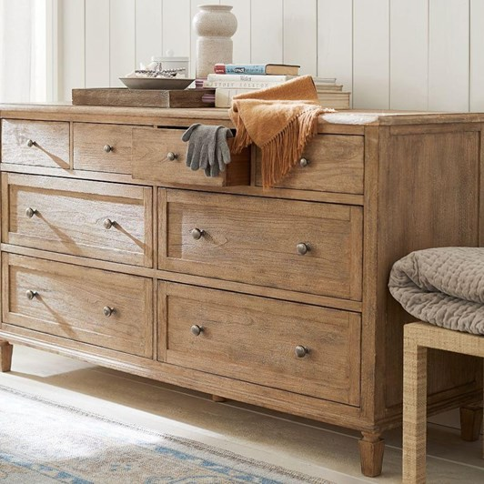 Pottery Barn Sausalito Extra Wide Dresser Wood Seadrift