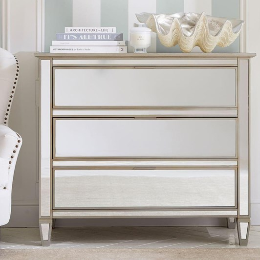 Pottery Barn Park Mirrored Dresser Champagne