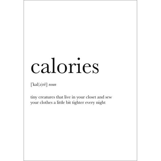 Vevoke Card Calories