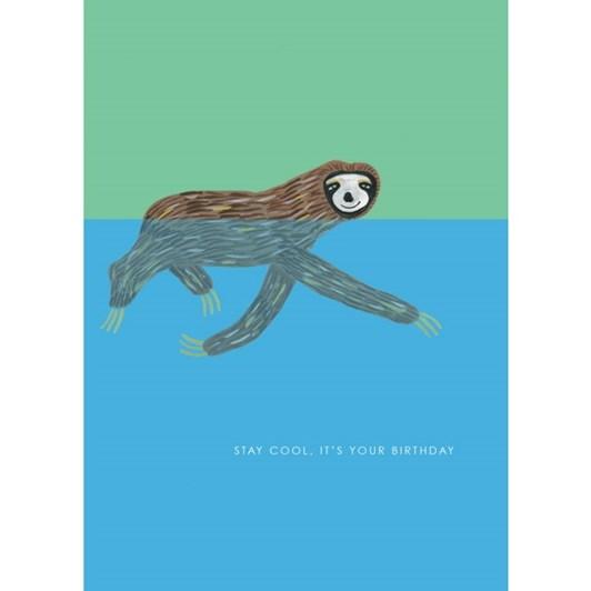 Vevoke Card Sloth Swimming