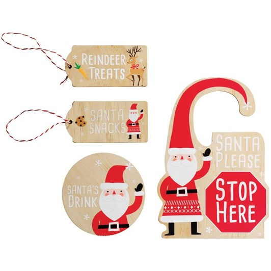 Santa Is Coming Kit 4 Piece