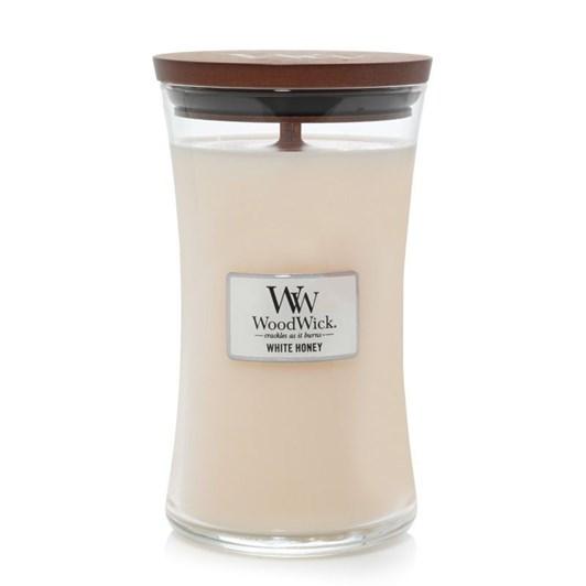 WoodWick White Honey Large Candle