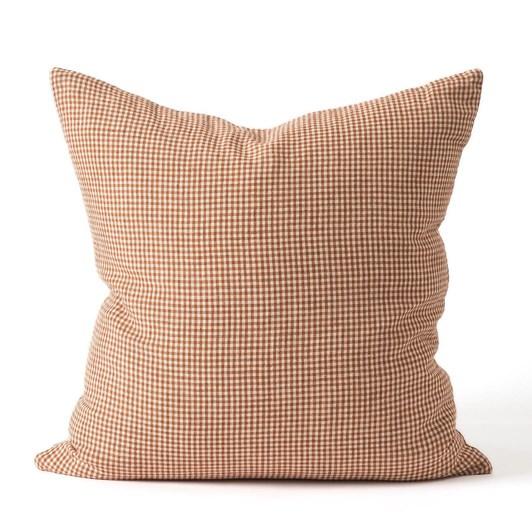 Citta Bonnie Woven Cushion Cover Chestnut/Macaroon 55x55cm