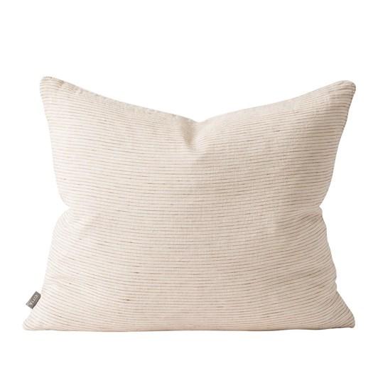 Citta Linea Woven Cushion Cover Natural/Chestnut 55x45cm