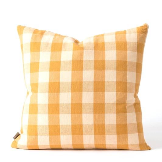 Citta Pippa Woven Cushion Cover Pumpkin/Macaroon 50x50cm