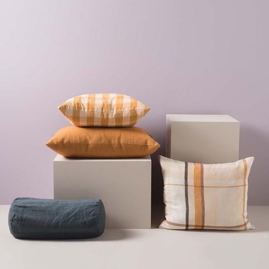 Citta Linen Blend Bolster Cushion Cover Juniper 46x20cmdia