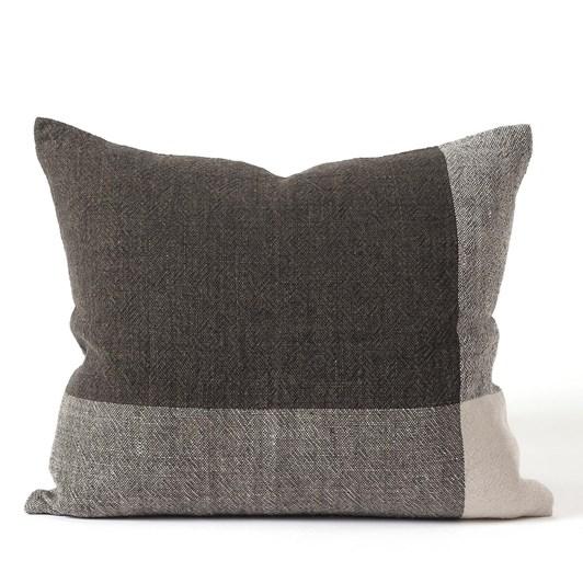 Citta Chester Linen Cushion Cover Pepper/Chalk 55x45cm