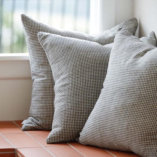 Citta Bonnie Woven Cushion Cover Pepper/Natural 55x55cm