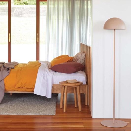Citta Moon Floor Lamp Almond 30cmdiax142cmh