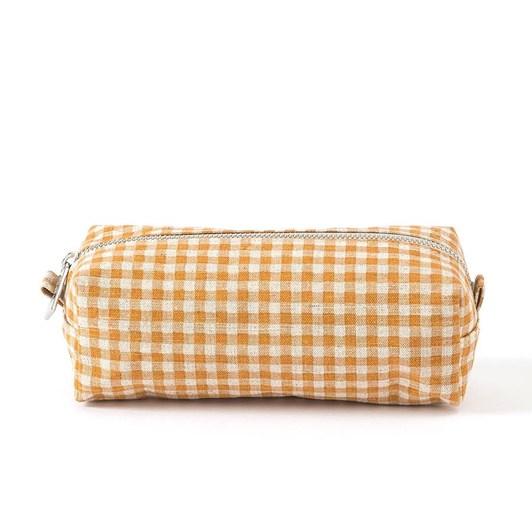 Citta Gingham Wash Bag Pumpkin/Dijon S 20x8x7cm