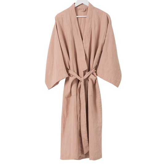 Citta Sunday Women's Linen Dressing Gown Iced Tea S/M