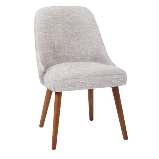 West Elm Mid-Century Upholstered Dining Chair Platinum Linen Weave