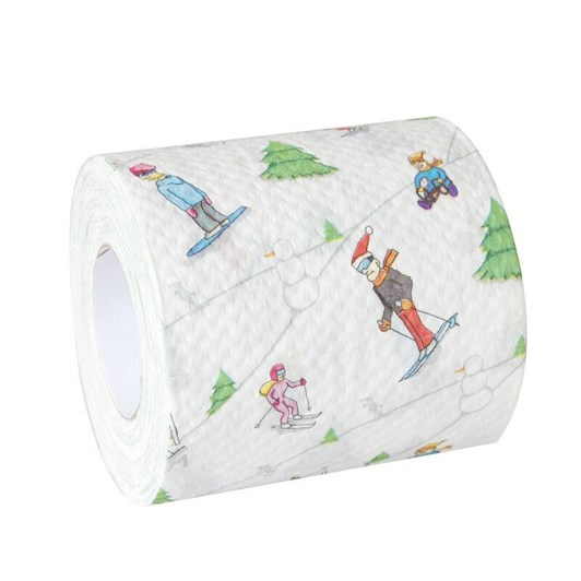 Funny Skiing Toilet Paper