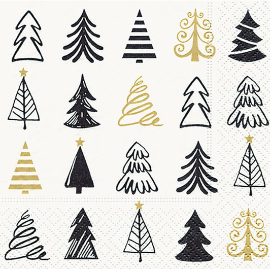 Graphical Trees Cocktail Napkins