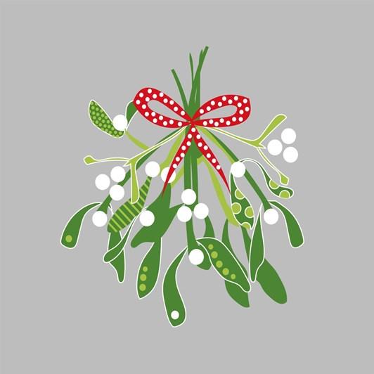 Image Gallery Pp Xmas Napkin Scandi Mistletoe