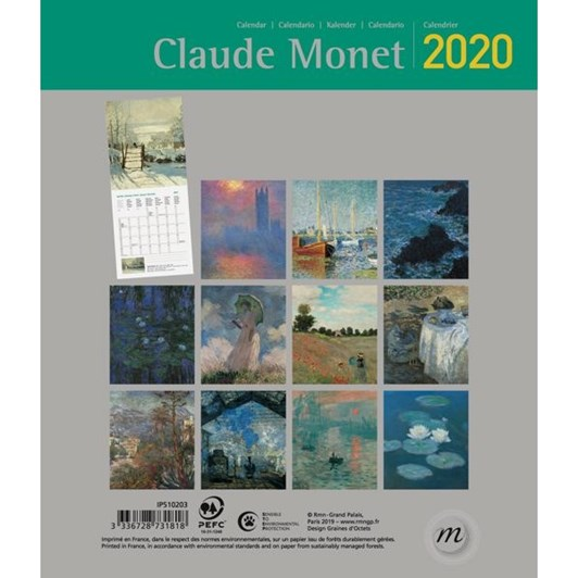 Vevoke 2020 Mini Calendar - Claude Monet
