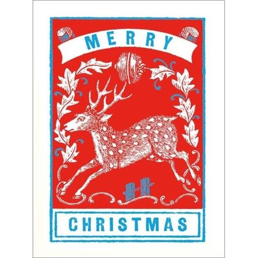 Vevoke Mini Card-Reindeer Foliage