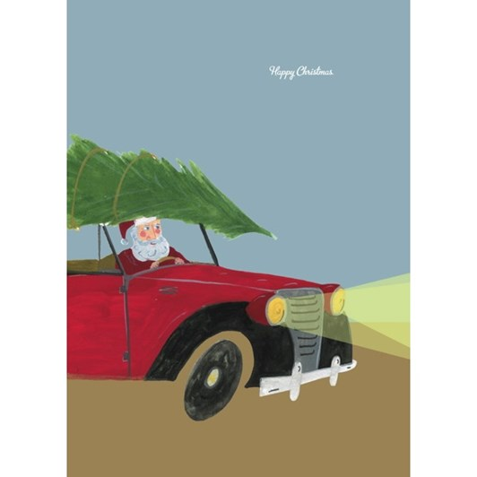Vevoke Card-Santa In Car