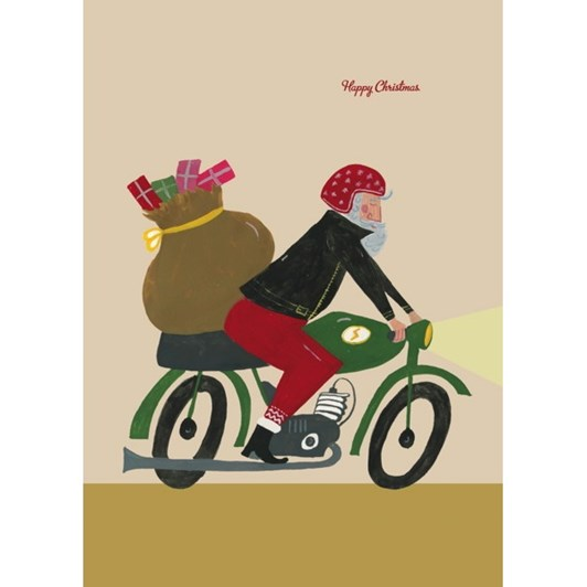 Vevoke Card-Santa On Bike