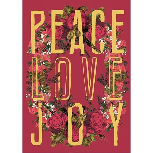Vevoke Foil Card-Peace Love Joy