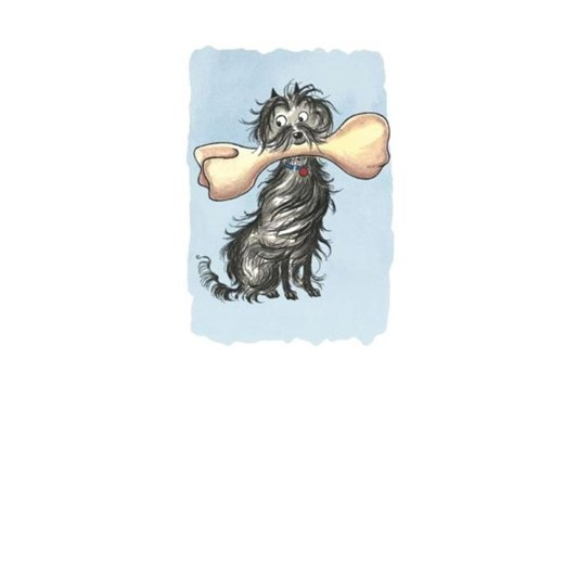 Hairy Maclary Dog With Bone Bookmark