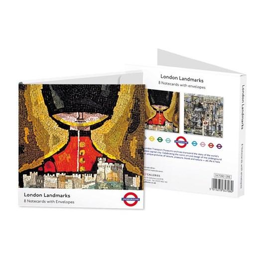 Museums & Galleries London Landmarks Notecard Set 4 X 2