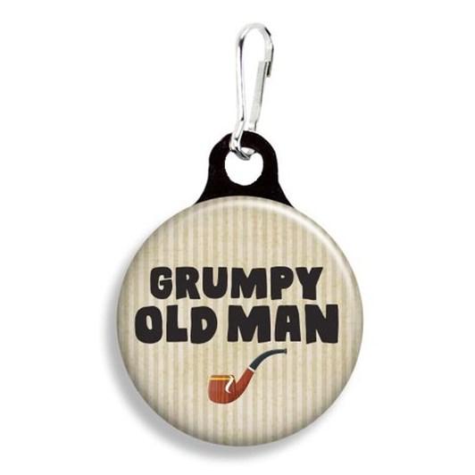 Franny B Good Grumpy Old Man Collar Charm