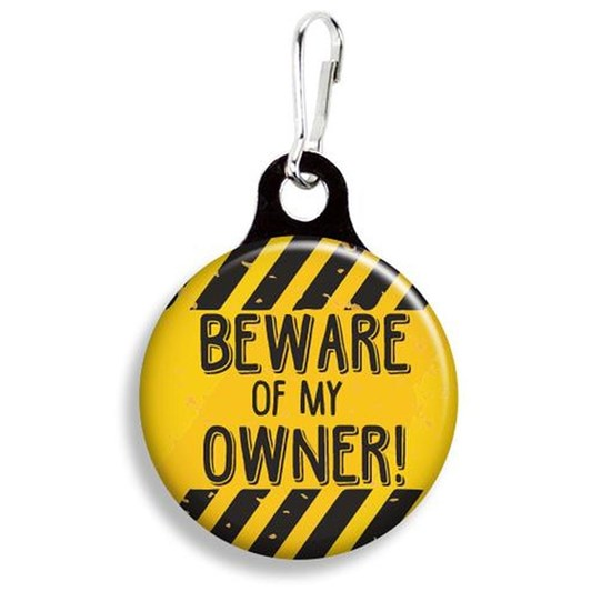 Franny B Good Beware Of My Owner Collar Charm