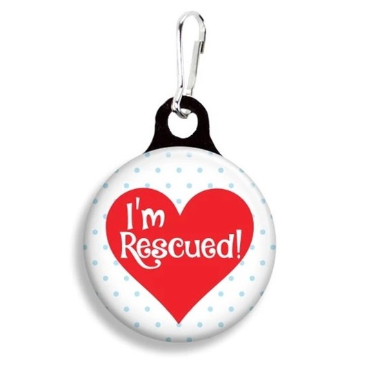Franny B Good I'M Rescued Collar Charm