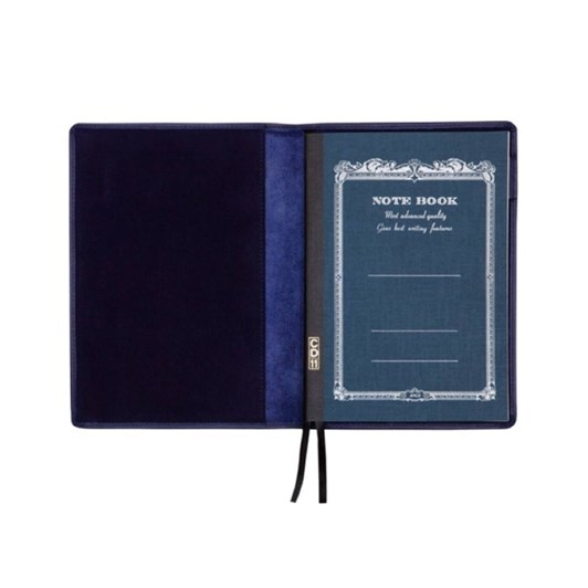 Vevoke A5 Notebook With Leather Jacket-Navy