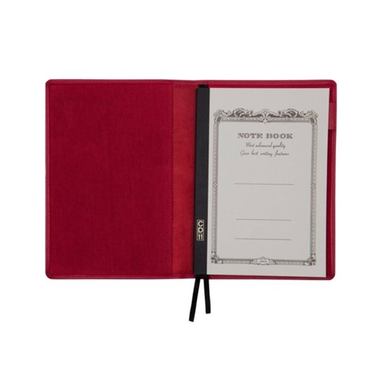 Vevoke A5 Notebook With Leather Jacket-Red