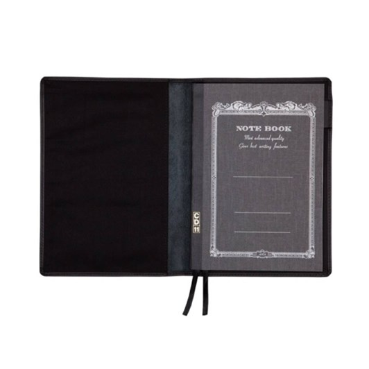 Vevoke A6 Notebook With Leather Jacket-Black