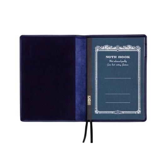 Vevoke A6 Notebook With Leather Jacket-Navy