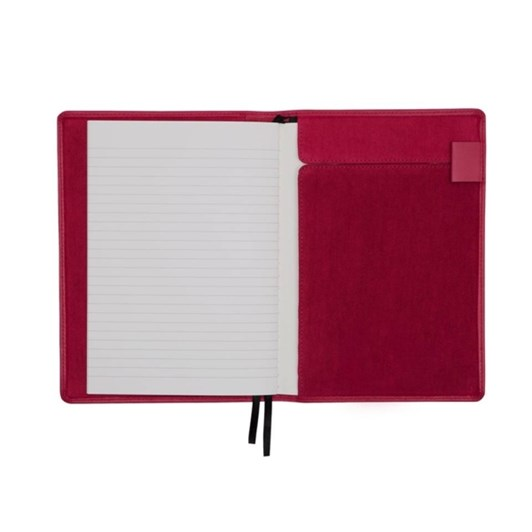 Vevoke A6 Notebook With Leather Jacket-Red
