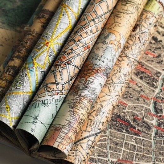 Vevoke Gift And Creative Papers Book-Maps