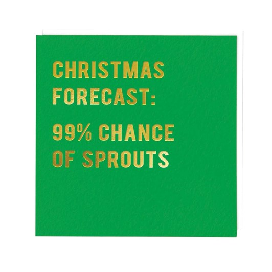 Christmas Forecast Sprouts Card