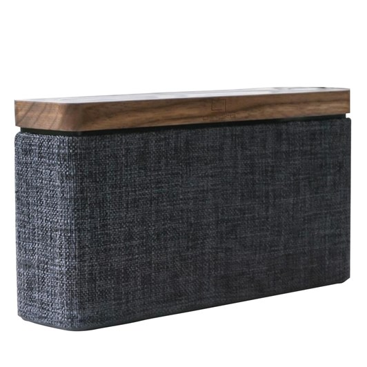Gingko Hi Fi Square Bluetooth Speaker Natural Walnut Wood