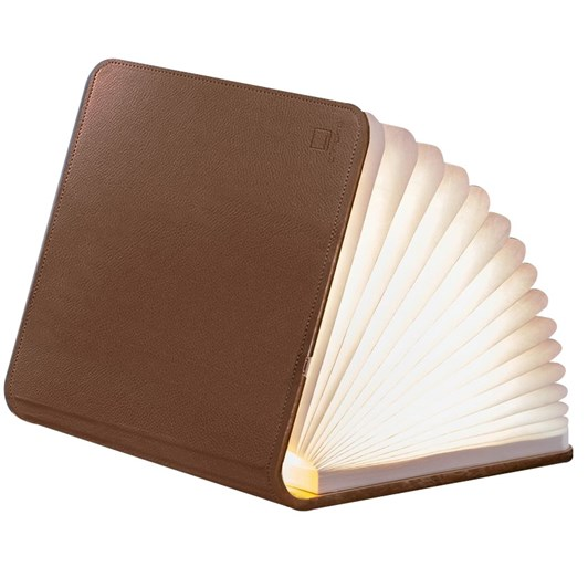 Gingko Leather Smart Book Light Large Brown Leather